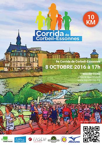 plaquette Corrida de Corbeil-Essonnes 2016